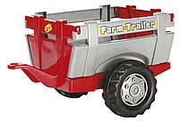 Прицеп на 2-х колесах rollyFarm Trailer Rolly Toys красно-серый
