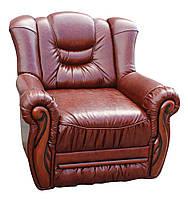 """Раскладное кожаное кресло """"Князь - Паж"""". (100 см)"""