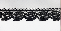 Кружево КМС 8393 3см черное