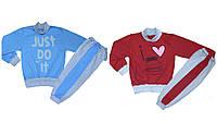 Спортивный костюм детский утепленный, хлопок, начес, р.р.88-128 см