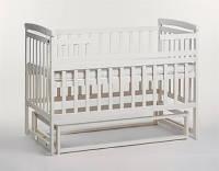 Детская кроватка-трансформер Дитячий сон с маятником (без ящика), цвет ваниль