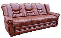 """Прямой кожаный раскладной диван """"Паж"""". (230 см)"""