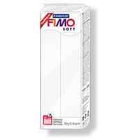 Полимерная глина пластика FIMO Soft 350 г, белый 0