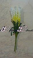 Добавка тычинка лаванда бело-желтая
