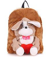 Рюкзак с собакой коричневый Рoolparty