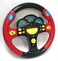 """Музыкальный обучающий руль-автотренажер """"Я тоже рулю"""" Joy Toy 7044 HN KK красный"""