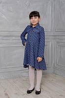 Стильное детское платье-рубашка