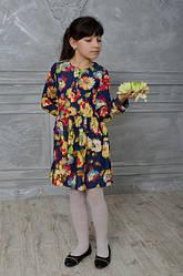 Красивое детское платье в цветочный принт