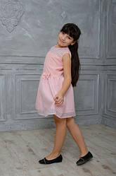 Интересное детское платье с бантиком