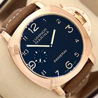 Часы наручные мужские Panerai Officine Mechanic Gold\Blue ― Brown 1038-0011 AAA copy SK
