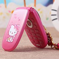 Hello Kitty W88 раскладной телефон для девочки хелло китти на 1 сим-карту