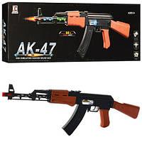 Автомат AK-47 62см, свет, вибро, подвижная пуля, батар., в кор. 47,5*15*4см  (72шт)