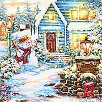 Cалфетка для декупажа Снеговик у дома 6552