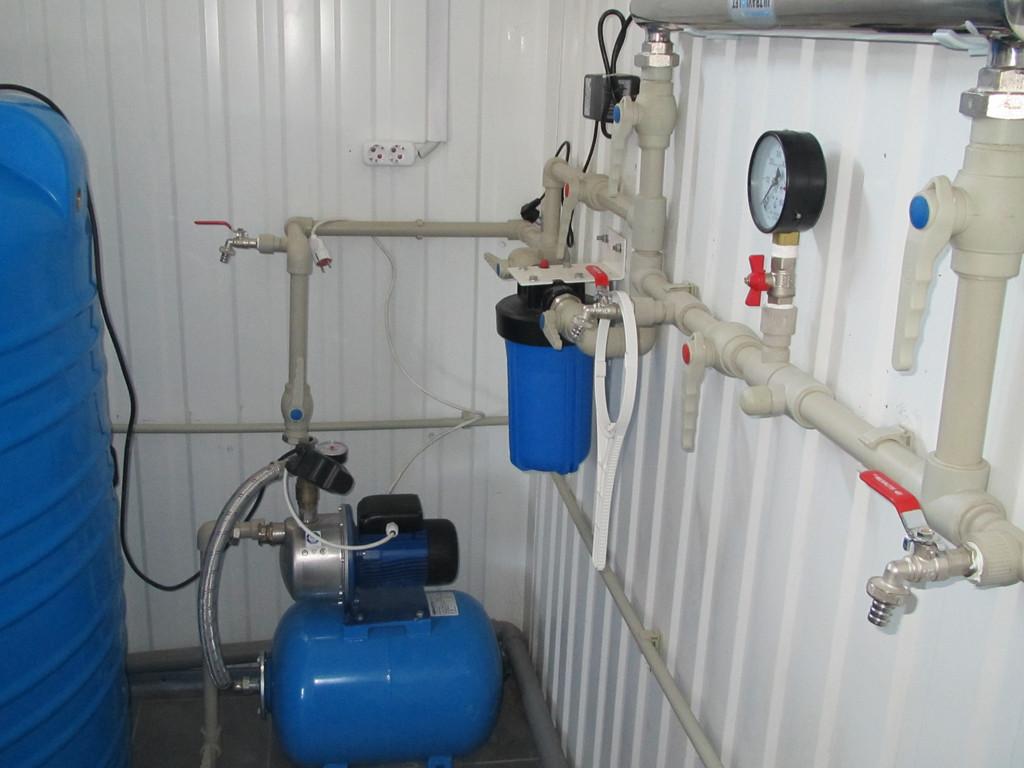 Завод по производству пенопластовых плит. Подготовка очищенной воды для парогенератора.
