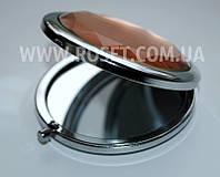 Компактное складное карманное зеркальце с камнем