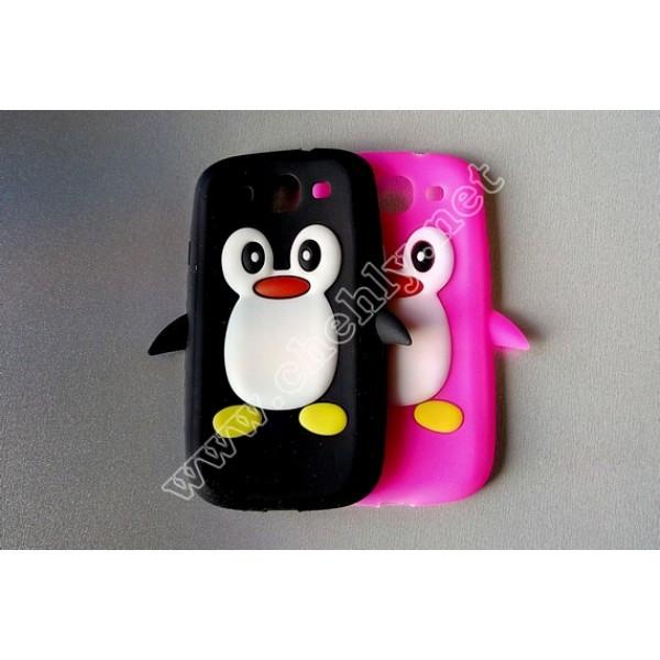 Силиконовый чехол Samsung Galaxy S3 I9300 Пингвин