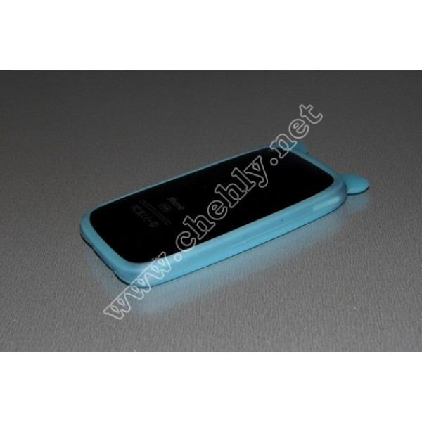 Универсальный светящийся в темноте силиконовый чехол с ушками мишки для экрана от 3 до 4 дюймов