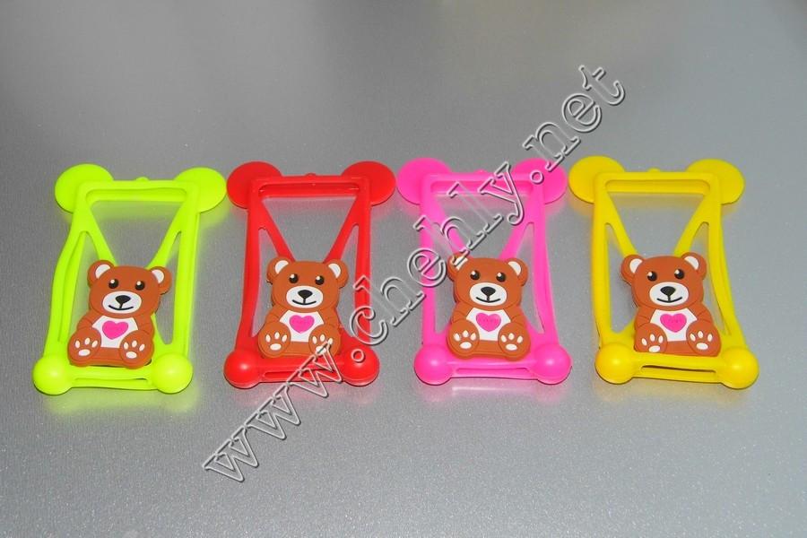 Универсальный силиконовый чехол мишка с ушками мишки для телефона с экраном от 3,5 до 5,5 дюймов