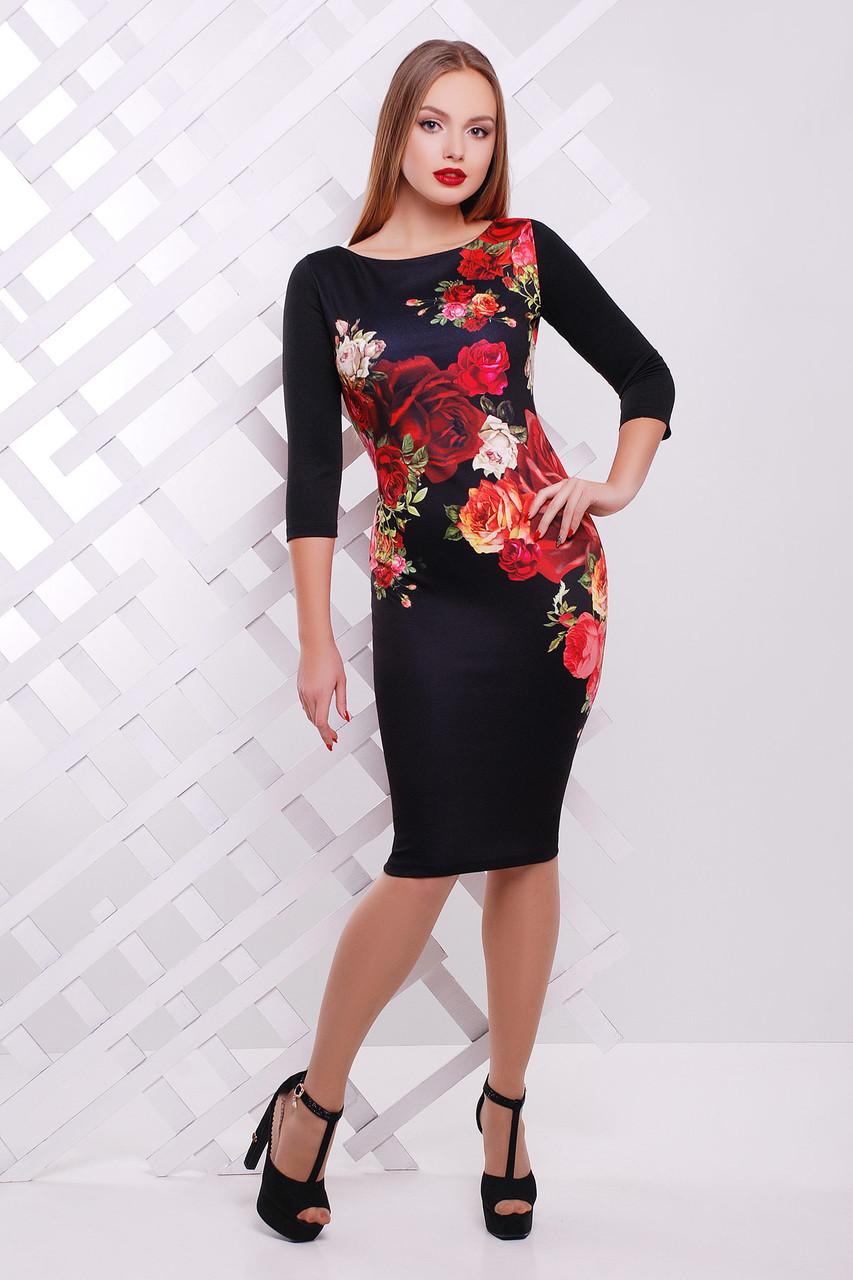 Розы платье Лоя-3Ф д/р