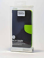 Чехол-книжка Goospery Rich Diary Series для Xiaomi Redmi Note 3 SE Синий с салатовым