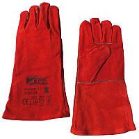 Краги сварочные Werk WE2128 (красные)