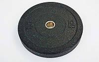 Бамперные диски для кроссфита Bumper Plates из структурной резины 10 кг