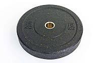 Бамперные диски для кроссфита Bumper Plates из структурной резины 15кг