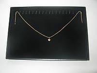 Бархатная коробка планшет для цепочек,браслетов с металлическими крючками