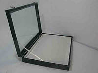 Торговая коробка со стеклянной крышкой под цепочки,подвески, фото 1