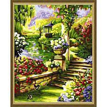 Раскраска по номерам Лесенка в саду