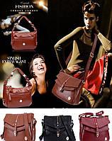 """Женская кожаная сумка """"ludanniya"""". Размер: 28 х 10 х 22 см. Повседневная сумка из натуральной кожи."""