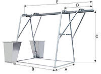 Подъёмник грузовой строительный СПЕКТРУМ ПГС-1,0