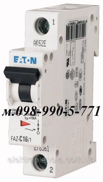 Автоматический выключатель однополюсный Moeller/Eaton cерии PL4-C16А/1