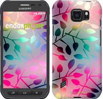 """Чехол на Samsung Galaxy S6 active G890 Листья """"2235u-331"""""""