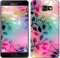 """Чехол на Samsung Galaxy A7 (2016) A710F Листья """"2235u-121"""""""