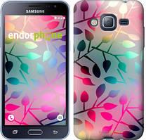 Чехол на Samsung Galaxy J3 Duos (2016) J320H Листья, Розовый
