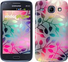 Чехол на Samsung Galaxy J1 Ace J110H Листья, Розовый