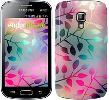"""Чехол на Samsung Galaxy Young S6310 / S6312 Листья """"2235u-252"""""""