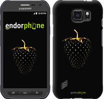 """Чехол на Samsung Galaxy S6 active G890 Черная клубника """"3585u-331"""""""