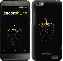 """Чехол на HTC One V t320e Черная клубника """"3585u-227"""""""
