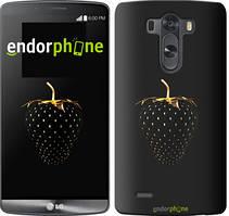 """Чехол на LG G4 H815 Черная клубника """"3585u-118"""""""