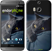"Чехол на HTC One M8 Дымчатый кот ""825c-30"""