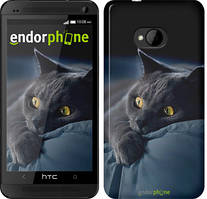 "Чехол на HTC One M7 Дымчатый кот ""825c-36"""