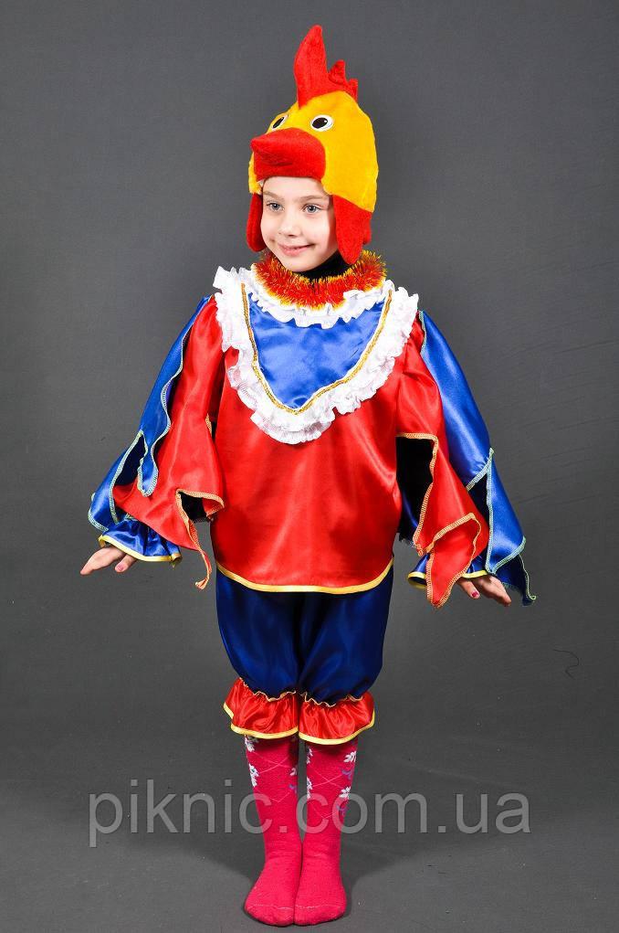 Костюм Петушок 4,5,6,7 лет Детский новогодний костюм Петух Півень Півник для детей мальчиков 342