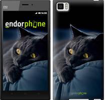 """Чехол на Xiaomi Mi3 Дымчатый кот """"825u-170"""""""