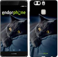 """Чохол на Huawei P9 Plus Димчастий кіт """"825u-300"""""""