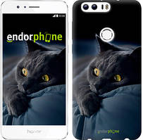"Чехол на Huawei Honor 8 Дымчатый кот ""825u-351"""