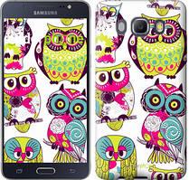 Чехол на Samsung Galaxy J5 (2016) J510H Совы, Белый