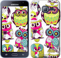 Чехол на Samsung Galaxy J3 Duos (2016) J320H Совы, Белый