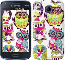 Чехол на Samsung Galaxy J1 Ace J110H Совы, Белый